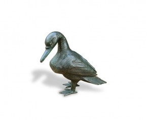 Medium Sized Duck Brass Ornament