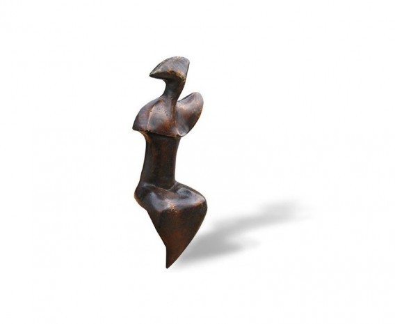 Abstract Sitting Beauty Brass Ornament