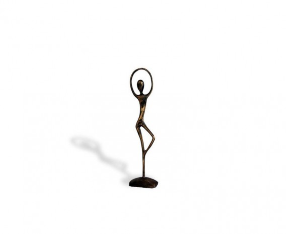 Small Ballerina Brass Garden Ornament