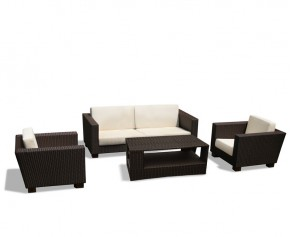 Sorrento Rattan Sofa Set with Coffee Table - Set 2 - Teak Garden Furniture Sale