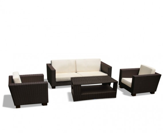 Sorrento Rattan Sofa Set with Coffee Table - Set 2