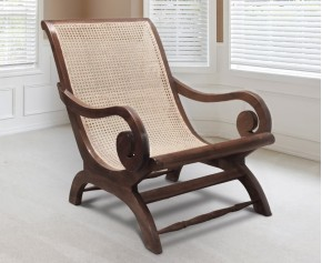 Capri Teak Lazy Chair - Reclaimed Teak - Teak / Rattan