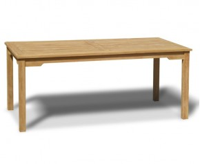 Sandringham Teak 6ft Outdoor Rectangular Dining Table - 6 Seater Dining Tables