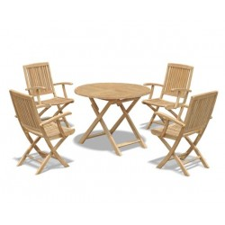 Square Folding Bistro Table 60cm