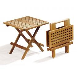 Square Teak Folding Picnic Table