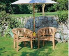 Garden Teak Companion Seat - Jack and Jill Bench