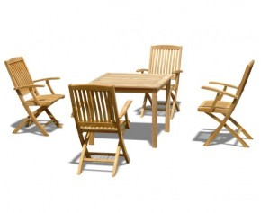 Sandringham table with 4 Bali Armchairs - Small Dining Sets