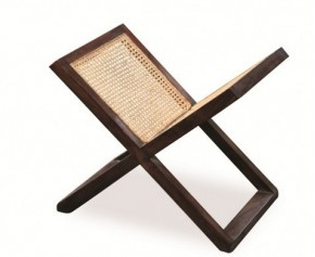 Rattan and Teak Wooden Magazine Rack - Teak