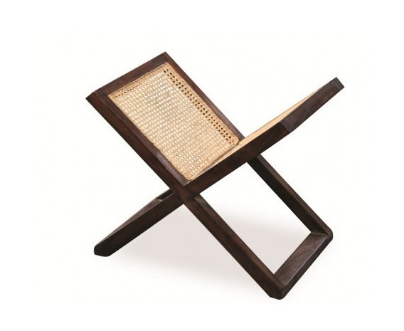 Rattan and Teak Wooden Magazine Rack