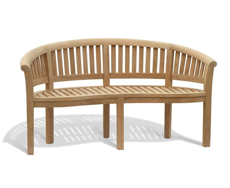 Curved Garden Benches Teak Banana Benches Outside Peanut