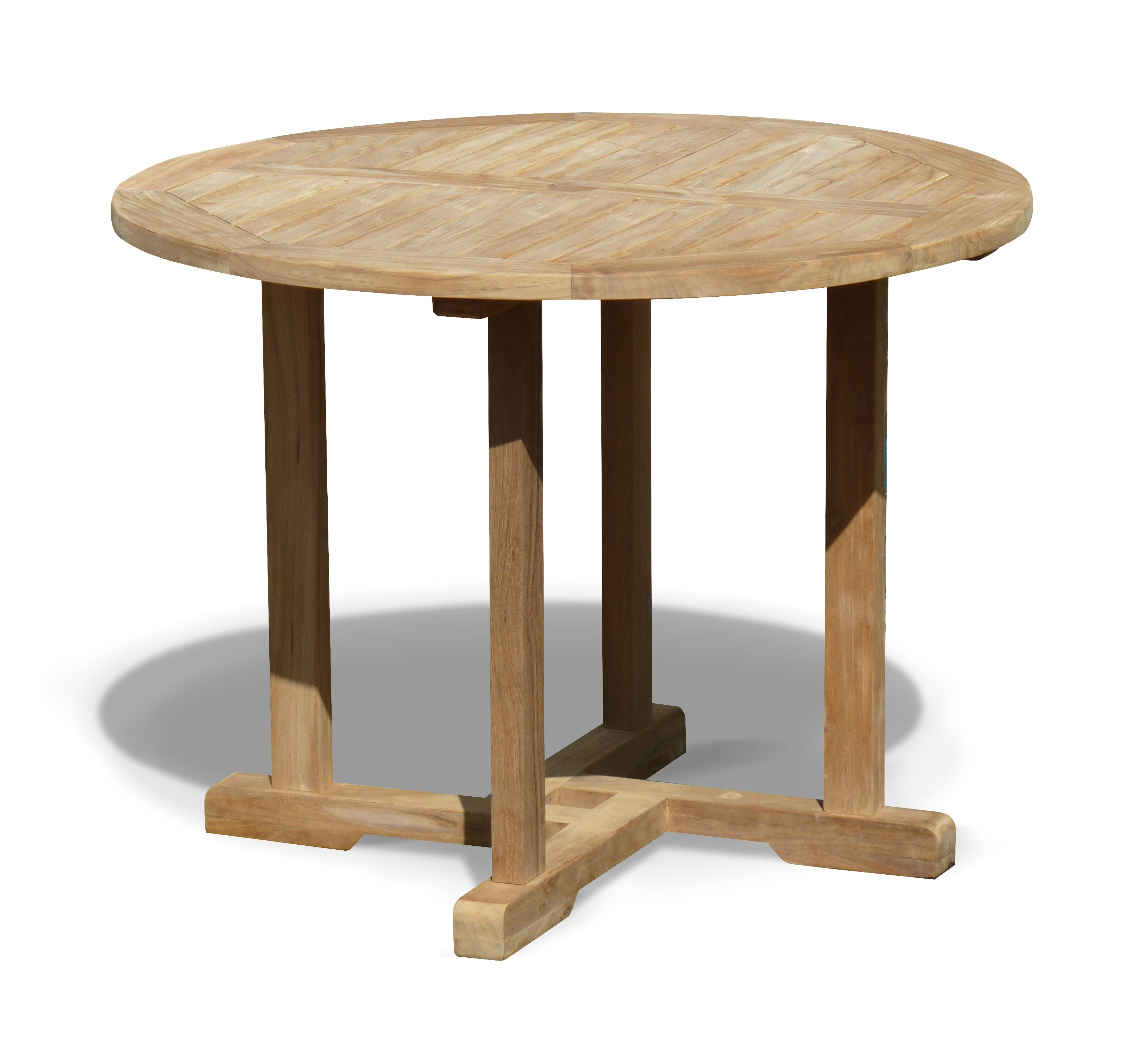 Canfield Teak Round Outdoor Dining Table