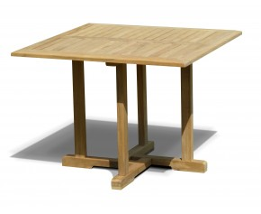 Canfield Teak Square Garden Dining Table - 1m - Square Tables