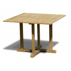 Canfield Teak Square Garden Dining Table - 1m