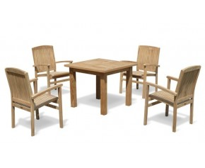 Balmoral 4 Seater Garden Table and Stacking Chairs - Balmoral Dining Set
