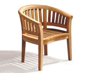 Contemporary Teak Banana Chair - Teak Garden Chairs