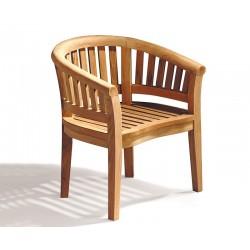 Contemporary Teak Banana Chair