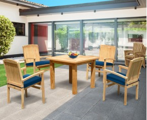 Balmoral 4 Seater Garden Table and Stacking Chairs -