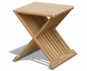 Chelsea Teak Garden Stool - Occasional Table