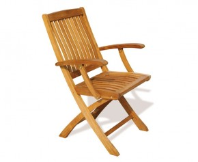 Bali Teak Folding Outdoor Armchair - Folding Chairs