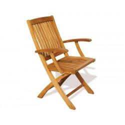 Bali Teak Folding Outdoor Armchair