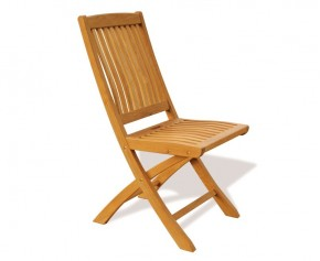 Bali Garden Folding Teak Chair - Teak Garden Chairs