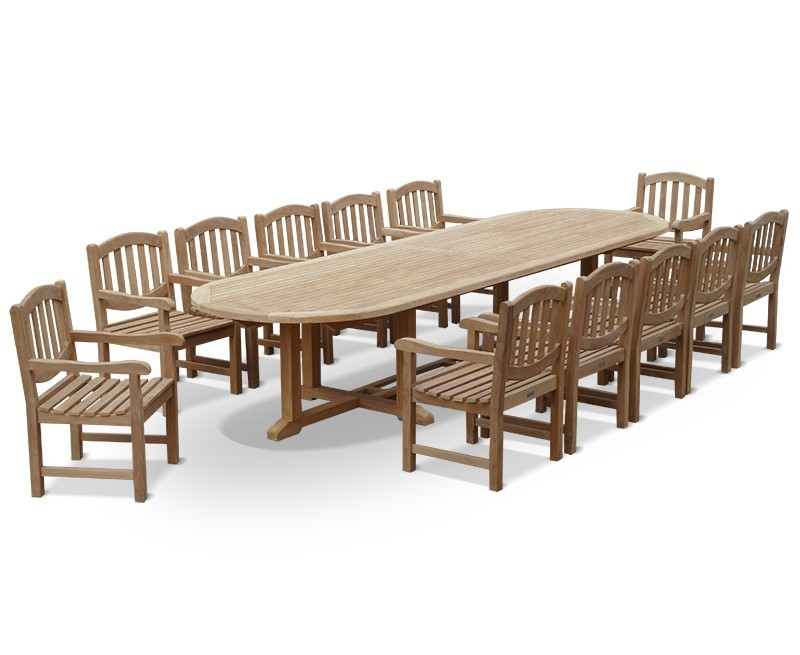Hilgrove 12 Seater Teak Garden Dining Set 2