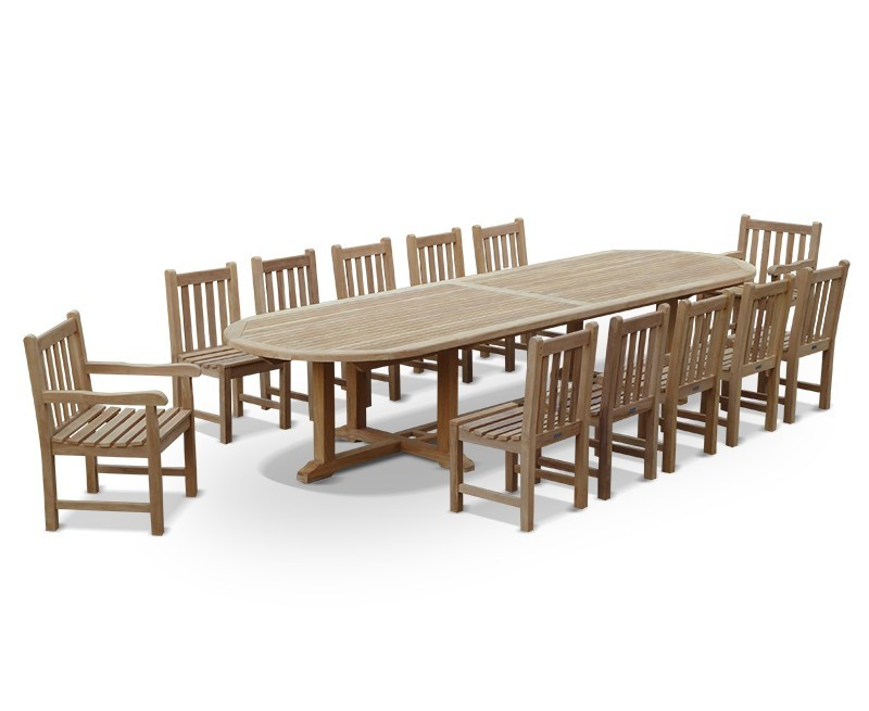 Hilgrove 12 seater teak dining set for 12 seater dining table sets