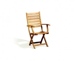 Suffolk Teak Folding High back Garden Chair - Folding Chairs