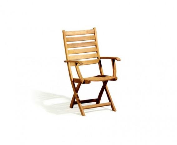 Suffolk Teak Folding High back Garden Chair