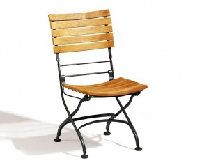 Bistro Chair, Teak Folding - Teak / Metal
