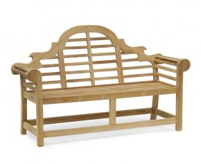 Teak Lutyens Bench 1.65m - 5ft Garden Benches