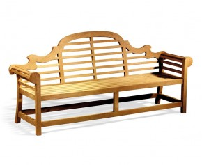 Extra Large Lutyens Teak Bench - 2.25m - 7ft Benches