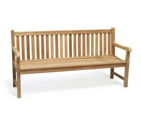 Windsor Teak 6ft Garden Bench - Heavy Duty Garden Benches