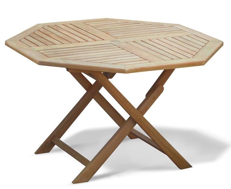 Suffolk Octagonal Folding Garden Table & Chair Set ...