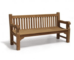 Balmoral 6ft Queens Diamond Jubilee Commemorative Bench - Teak Garden Furniture Sale