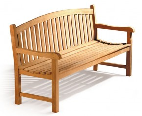 Clivedon Teak 3 Seater Garden Bench - 5ft Garden Benches