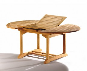Brompton Teak Extending Garden Table 120cm - 180cm - Oval Garden Tables