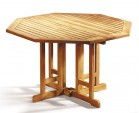 Berrington Teak Gateleg Octagonal Garden Table - 120cm