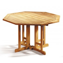 Berrington Teak Gateleg Octagonal Garden Table-120