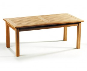 Hilgrove Teak Rectangular Coffee Table - Garden Tables