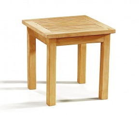 Occasional Teak Square Garden Side Table - Fixed Tables