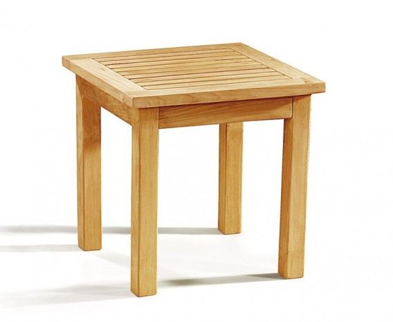 Occasional teak square garden side table for Outdoor teak side table