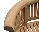 Deluxe Teak Banana Bench and Chair Set