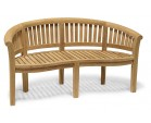 Modern Teak Banana Bench, Table and Chairs Set