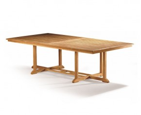 Hilgrove Large Wide Teak Rectangular Outdoor Table - 1.3m x 2.6m - 8 Seater Dining Tables