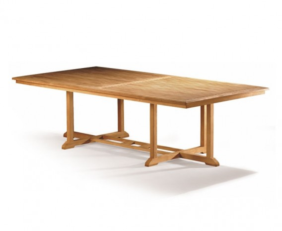 Hilgrove Large Wide Teak Rectangular Outdoor Table - 1.3m x 2.6m