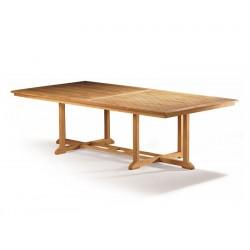 Hilgrove Large Wide Teak Rectangular Outdoor Table - 1.3m x 2.6m