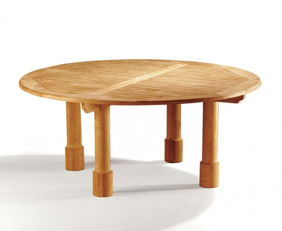 Titan 6ft Teak Circular Garden Table - 180cm