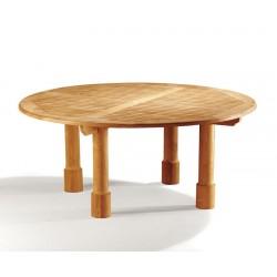 Titan 6ft Teak Circular Garden Table - 180cm