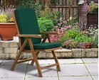 Deluxe Brompton Teak Dining Table and Bali Folding & Reclining Chairs Set